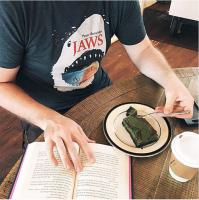 Out of Print Mens/Unisex Tshirt  [JAWS]