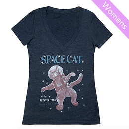 Out of Print Womens Tee  [Space Cat]
