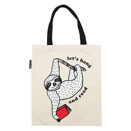 Out of Print Tote Bag [Let's Hang and Read]